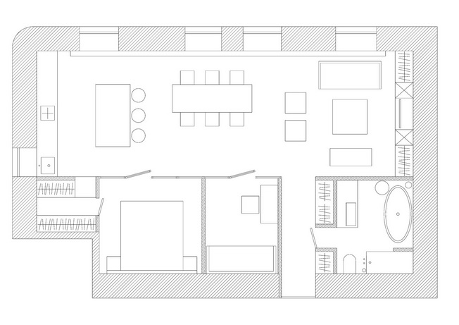 Apartament Black & White Studia Crosby
